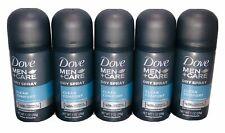 Dove Men + Care Dry Spray Antiperspirant (5 PACK) Clean Comfort 1 Oz Travel Size