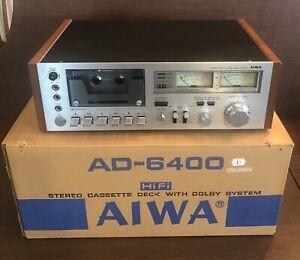 Vintage AIWA AD-6400 Stereo Cassette Tape Deck w/Original Box AS-IS Parts/Repair