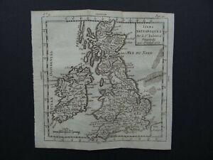 1783 Atlas Robert de VAUGONDY  map  BRITISH ISLES - Isles Britanniques  England
