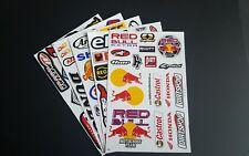 Paquete De 5 hojas de cinco de BMX Moto X deporte del motor Rally Racing Pegatinas: C-Lote