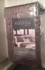 Kenneth Cole Reaction Standard QUILTED TEXTURE GRAY GREY PILLOW SHAM NEW