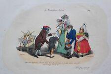 J.-J. GRANDVILLE Soyez sans inquiétude pl.55 Métamorphoses RARE 1e ed 1828 BULLA