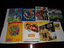 "7 Albums Panini/Disney/Lego/""Le Tour,Star Wars,foot Panini"""