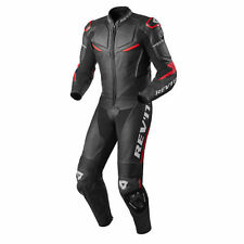 Combinaisons de motocyclette rouge Rev'it en cuir