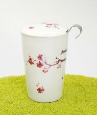 EIGENart Teaeve Trinkbecher Porzellan Deckel & Sieb Cherry Blossom 350 ml