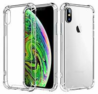 Hybrid Shockproof Thin Clear TPU Bumper Case Fits iPhone X / XS / 10S