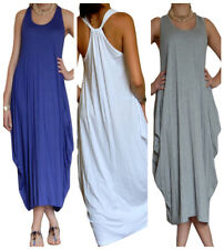 Ladies Maxi Dress Boho Racer Back Midi Size 8 10 12 14 16