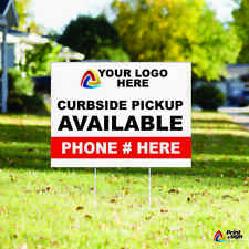 Custom Yard Sign 18x24 Sign Coroplast Printed Double Sided With Free Stand