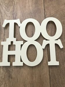 Too Hot Cream Metal Hot Plate Stand