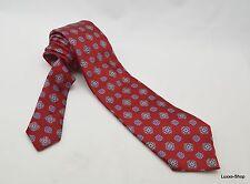 $245 NWT Ermenegildo Zegna Red w/ Floral Pattern 100% Silk Neck Tie
