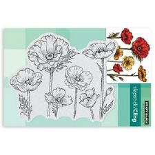 PENNY BLACK RUBBER STAMPS SLAPSTICK CLING PARADE OF FLOWERS NEW cling STAMP