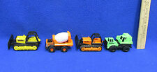 Tonka Diecast Bulldozer Cement Truck Construction Vehicle Orange Yellow Green