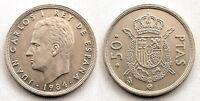 España-Juan carlos I. 50 pesetas. 1884 Madrid. EBC+/XF+. Escasa. Bella