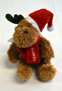 Welsh NADOLIG LLAWEN brown-coloured CHRISTMAS REINDEER Soft Toy ,  Wales, Cymru
