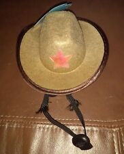 Brown Halloween  Dog Cowboy Hat Size M/L