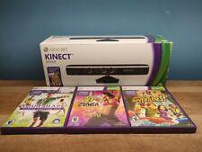 XBOX 360 KINECT Sensor Model 1414 in Original Box - No Power Adapter & Wifi Ext