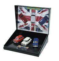 SCALEXTRIC® MINI DIAMOND EDITION COMMEMORATIVE TRIPLE PACK SLOT CARS C4030A