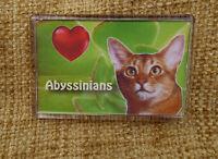 Cat Gift Abyssinian Cat Fridge Magnet 77x51mm Birthday Gift Stocking Filler
