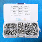 300pc M3 Stainless Steel Button Head Hex Socket Cap Screws Nuts Assorted Kit HOT