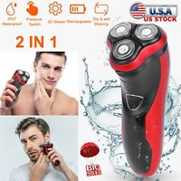 Electric Shaver Electric Razor for Men 3D Ipx7 Rechargeable w/ Pop-Up Trimmer