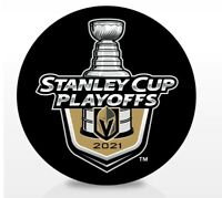 VEGAS GOLDEN KNIGHTS 2021 NHL PLAYOFFS HOCKEY PUCK STANLEY CUP 1ST 2ND ROUNDS
