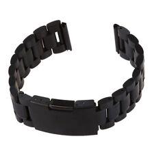 Cinturino 18CM per Orologio in Acciaio Nero con Fibbia Ansa 20MM K9G9 D6B0