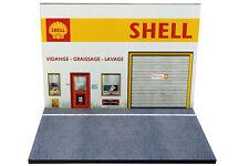 Diorama présentoir Station Service Shell - 1/43ème - #43-2-B-B-101