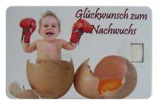 Geschenkkarte Motivkarte Silberbarren 999er Silber 1g Gramm Baby Geburt ...