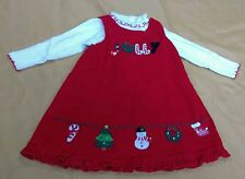 Baby Girls JOLLY Goodlad Red Holiday Jumper Dress Size 2