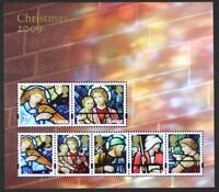 GR BRITAIN 2009 Sc2716, MS2998 Stained Glass, Christmas, Mini-Sheet, S/S Mint NH