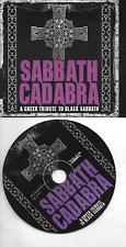 BLACK SABBATH CD (promo card) Sabbath Cadabra A Greek tribute to Black Sabbath