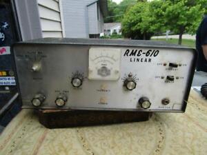 Vintage  RME 610 Linear Radio Tube Transmitter Not Tested