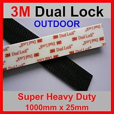 3M DUAL LOCK TAPE 5 X STRONGER THAN HOOK  LOOP 1 Metre x 25mm