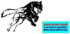 """Wolf Running #080 Vinyl decal sticker Graphic Die Cut Car Truck Window 10"""""""