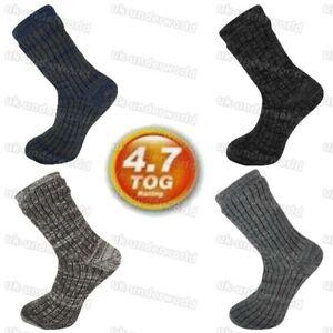 Mens Thermal Socks 4.7 Tog Fleece Sherpa Lining Slipper Bed Socks Adults 6-11