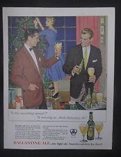 Ballantine Ale Christmas1955 Original Vintage Print Ad
