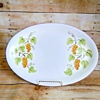 "Stangl Golden Grape Oval Serving Platter 14 3/4"" Vintage 1960's"