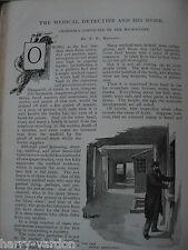 Medical Detective Phorensics Poison Murder Albino Animals Antique 1898 Articles