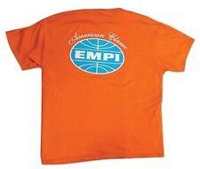 Empi T-Shirt VW Bug American Classic Logo 100% Cotton, Orange  Medium  15-4024