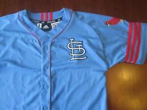 Vintage Adidas Cooperstown Collection St Louis Cardinals Pujols Jersey Youth L