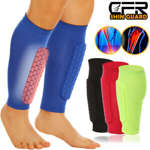 Football Shin Guards Compression Socks Soccer Pad Leg Basketball Training Sports