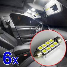 6Pcs Bright White 39mm SMD C5W Car Vehicle Festoon Dome Interior Led Light Bulb