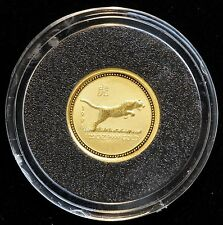 1998 $5 Australia 1/20oz Gold Year of the Tiger Lunar Coin in Capsule (LV#703)