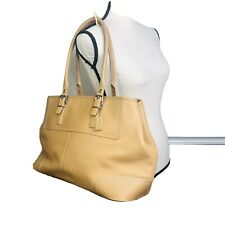 Coach  tan shopper tote XL Leather Handbag Tote Purse Shoulder Bag