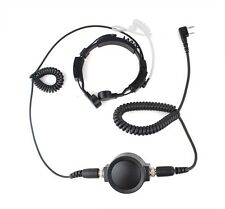Best Mic 2 Pin PTT Throat Earpiece Headset for KENWOOD TYT HYT BAOFENG UV5R 888S