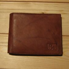 Man Wallet Brown cowhide leather (choice inside designs)
