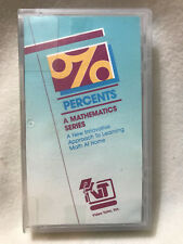 VIDEO TUTOR, % PERCENTS, MATHEMATICS SERIES, VHS, HARD CASE  1988