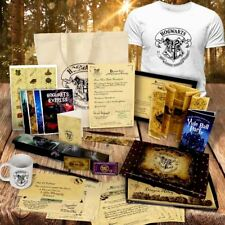 PERSONALISED HOGWARTS ACCEPTANCE LETTER T SHIRT BAG BOX WAND QUILL SET + MORE !