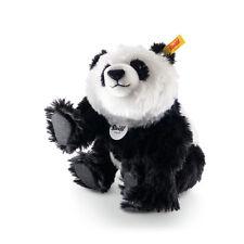 STEIFF Classic Siro Panda Noir Blanc Mohair 24 cm collector cadeau ean 035753 nouveau
