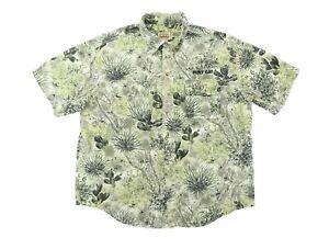 """GameGuard Men Large 54"""" Holt Cat Desert Camouflage S/S Button Shirt Cotton Camo"""